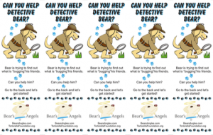 Detective Bear Bookmarks Front