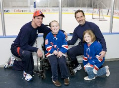 January 26, 2010: Liam Traynor and his family experience a Garden of Dreams Foundation Dream Day with a tour of the Madison Square Garden Training Center, watching a New York Rangers practice, and meeting Rangers players, coaches, and staff.