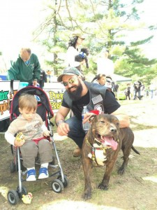 Bubba and his new family came to the SPCA of Westchester's Walkathon!