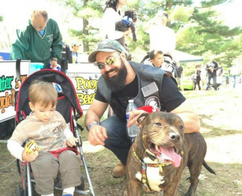 Bubba and his new family came to the SPCA of Westchester
