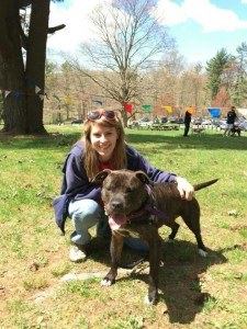 Skinny Marie made her debut as an adoptable dog on our website just weeks ago! Now she has a new family, who brought her to the SPCA of Westchester's Annual Walkathon!