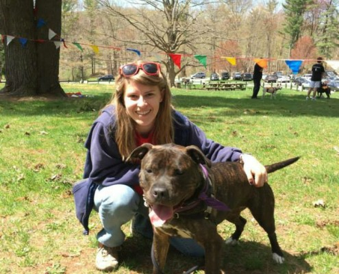 Skinny Marie made her debut as an adoptable dog on our website just weeks ago! Now she has a new family, who brought her to the SPCA of Westchester