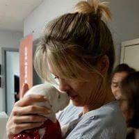 Hannah Larsen is a regular volunteer for Save Ohio Pets in their regular vet clinics. Larsen is the wife of Blue Jackets' assistant coach Brad Larsen.