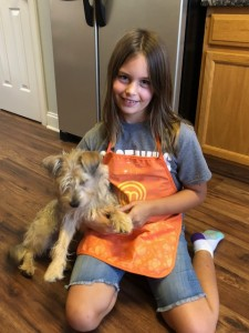 Jordan and her family rescued Daisy, pictured, in February from Harnett County Animal Shelter.