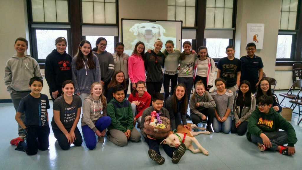 students at SPCA with peanut