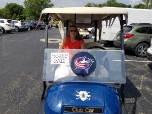 Jamie McGann at Golf Outing for Homeless to Home